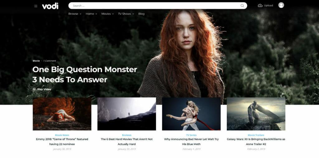 Vodi Video Theme For WordPress
