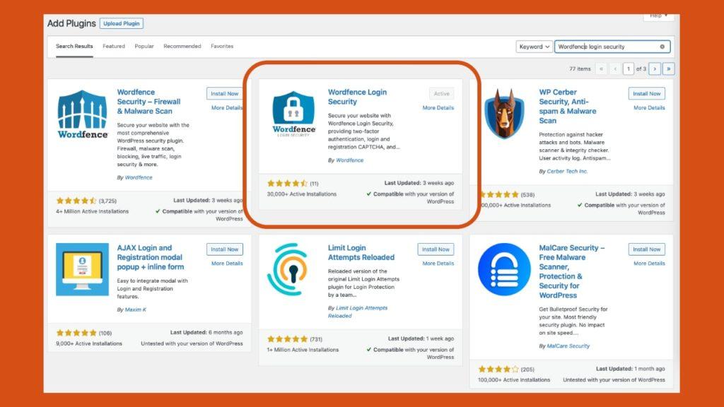 Wordfence Login Security WordPress Plugin